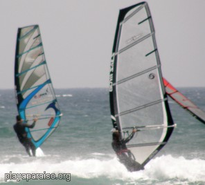 wind surfers at Calblanque